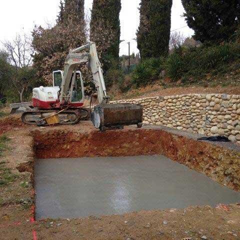 Travaux de terrassement terrain piscine nice colomars levens - Piscine pente terrain nice ...